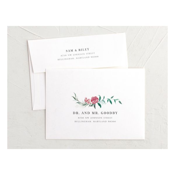Wild Wreath Envelopes front and back green