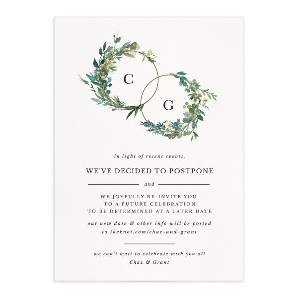 Leafy Hoops Change the Date Card front closeup