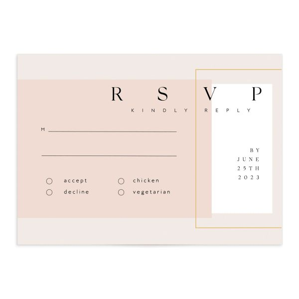 Ethereal Type Response Card front in pink