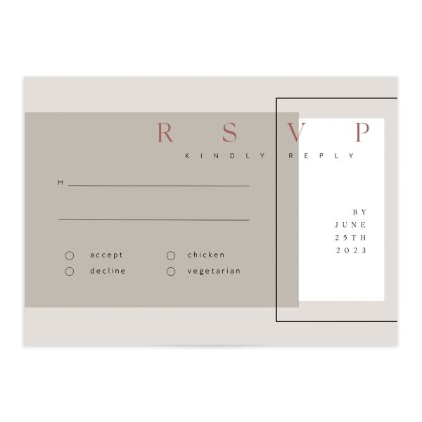 Ethereal Type Response Card front in tan