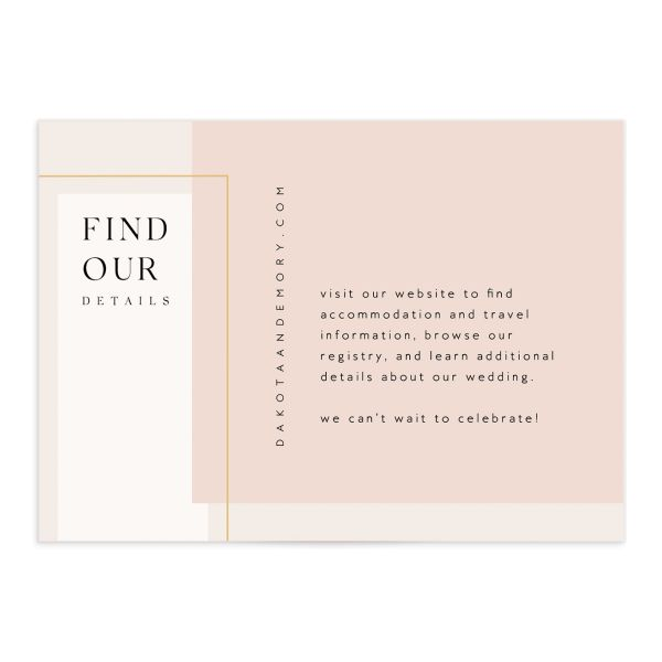 Ethereal Type Enclosure Card front in pink