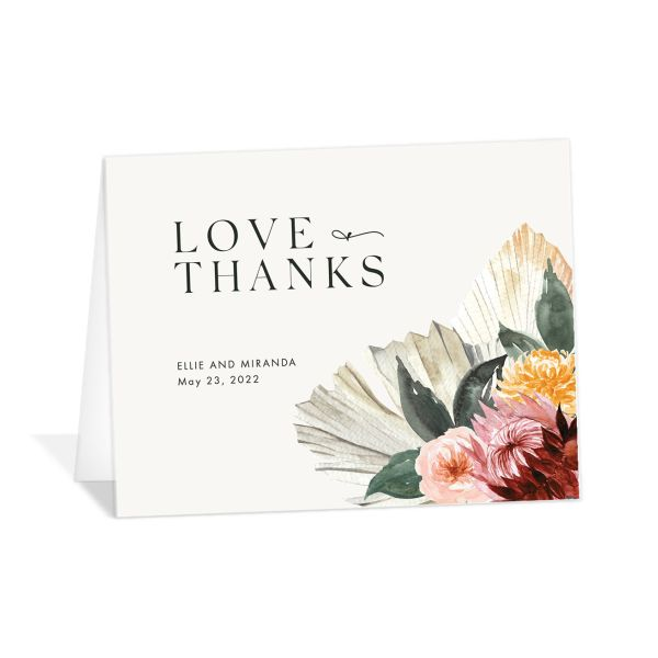 California Florals folded Thank You Card front