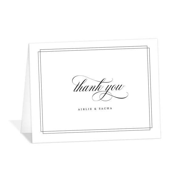 Classic Black Tie thank you card