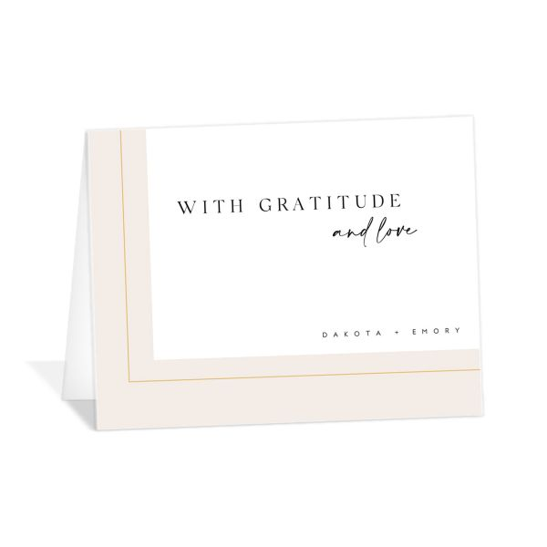 Ethereal Type Thank You Card front in pink