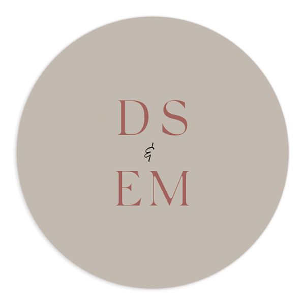 Ethereal Type Wedding Sticker in tan