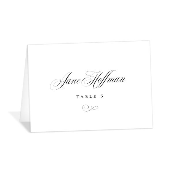 Classic Black Tie place card