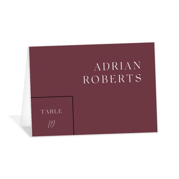 Ethereal Type Place Card in tan
