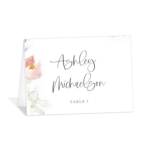 Romantic Watercolor Place Card