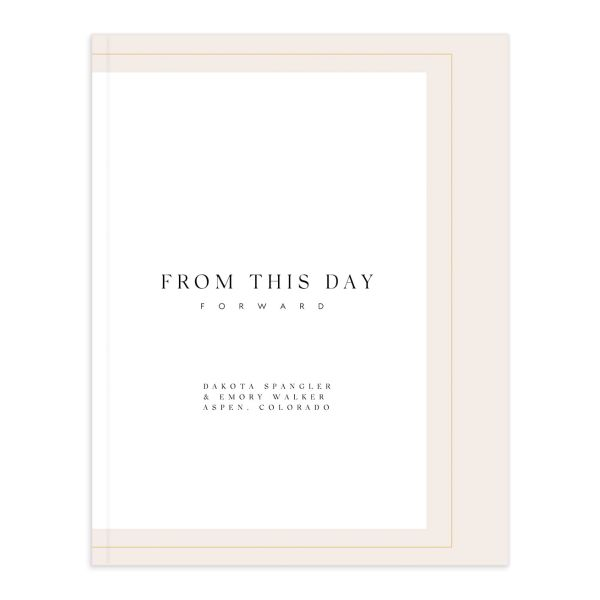 Ethereal Type Wedding Guest Book front in pink