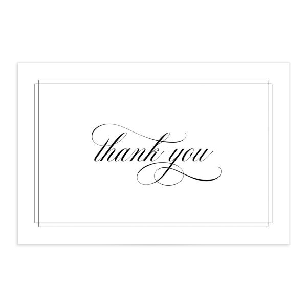 Classic Black Tie Thank You Postcards