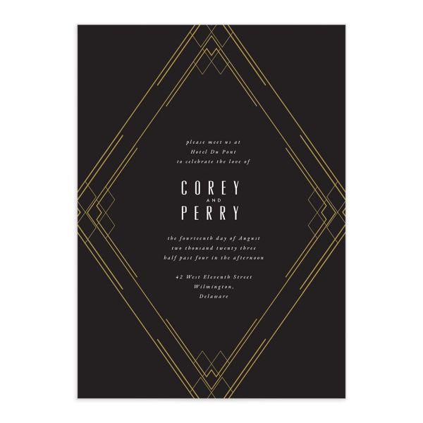 Formal Deco Wedding Invitations