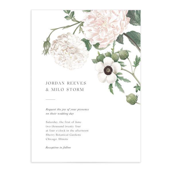 Vintage Peony Wedding Invitations