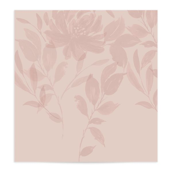 Botanical Imprint Envelope Liner in pink