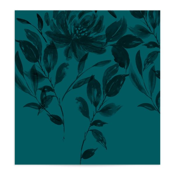 Botanical Imprint Envelope Liner in teal