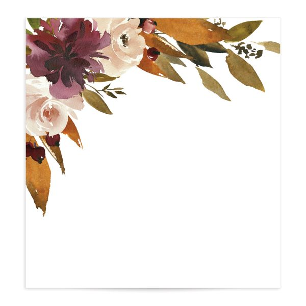 Fall Foliage Envelope Liner front in pink