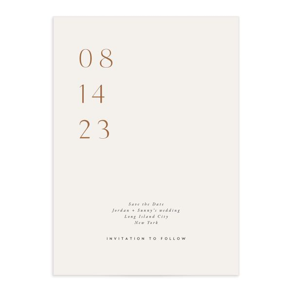 Elegant Typography Save The Date Cards