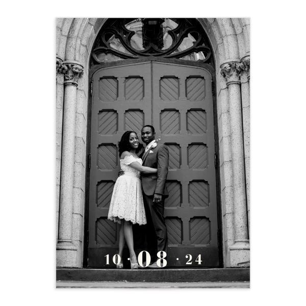 Love in New York Save the Date Card front