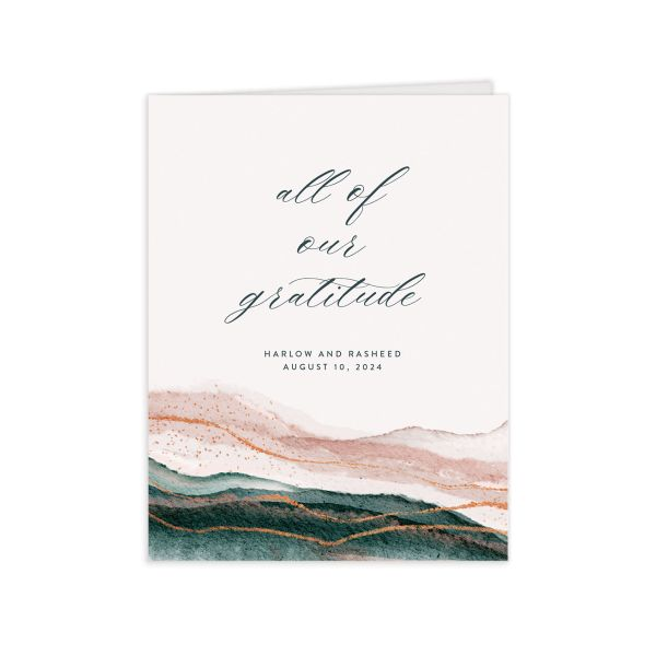 Abstract Wave Thank You Card front