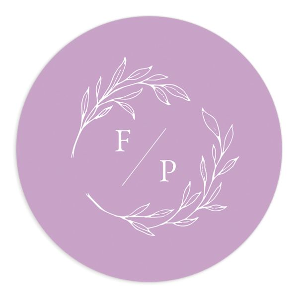 Delicate Lilac Wedding Sticker