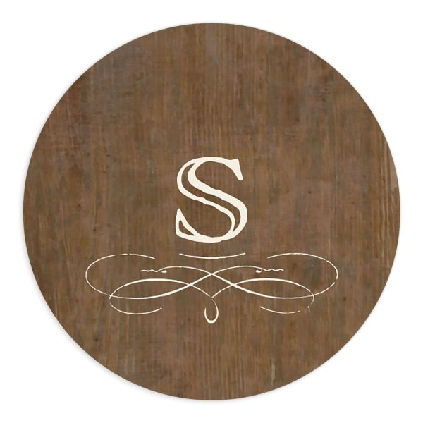 Rustic Winery Wedding Sticker