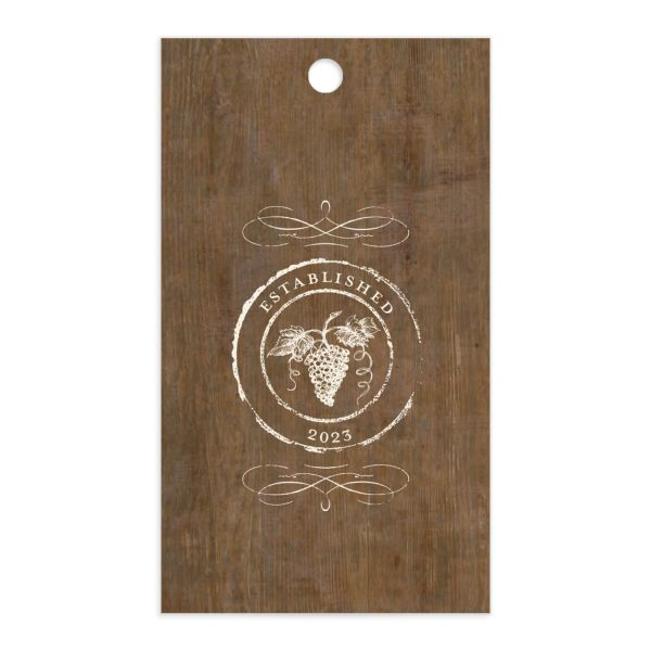 Rustic Winery Gift Tag front