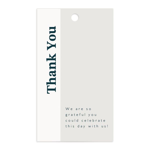 Traverse Type Gift Tag front in white