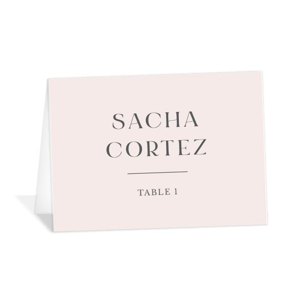 Botanical Imprint Place Card front in pink