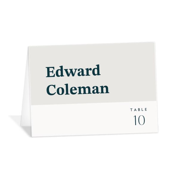 Traverse Type Place Card in white