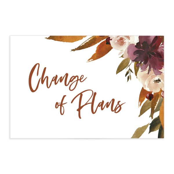 Fall Foliage Change the Date Postcard front in pink