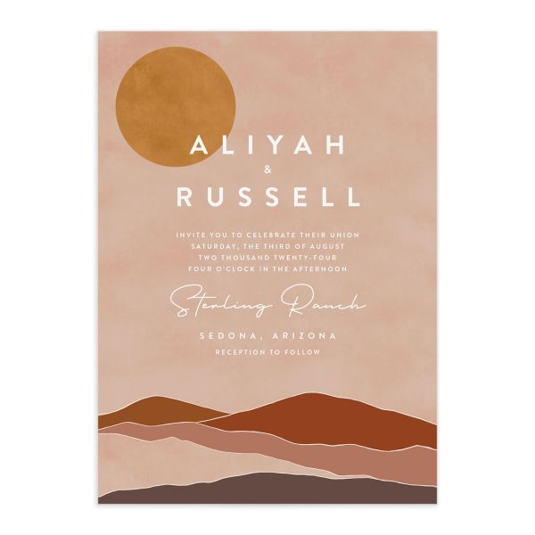 Abstract Hills Wedding Invitations