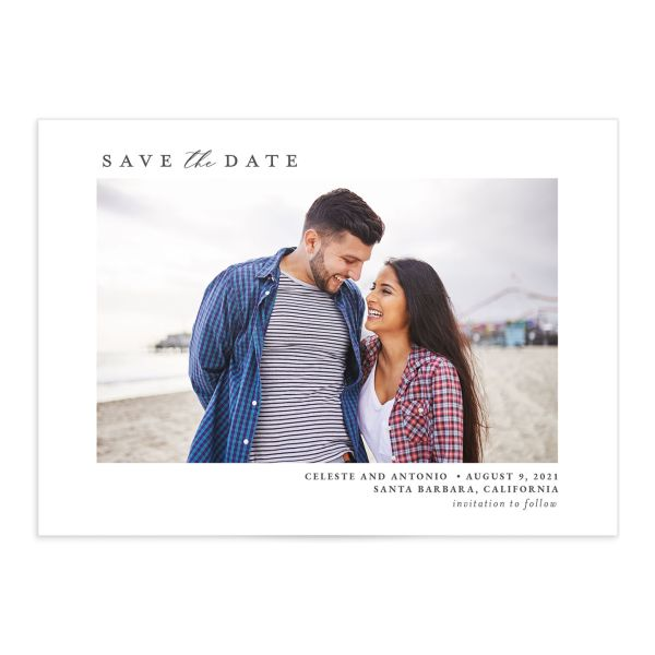Painted Beach Save The Date Cards