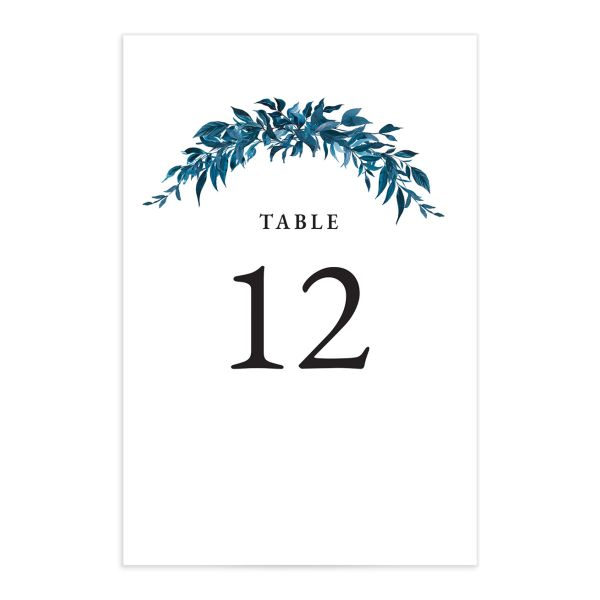 Classic Modern Table Number Card front in navy