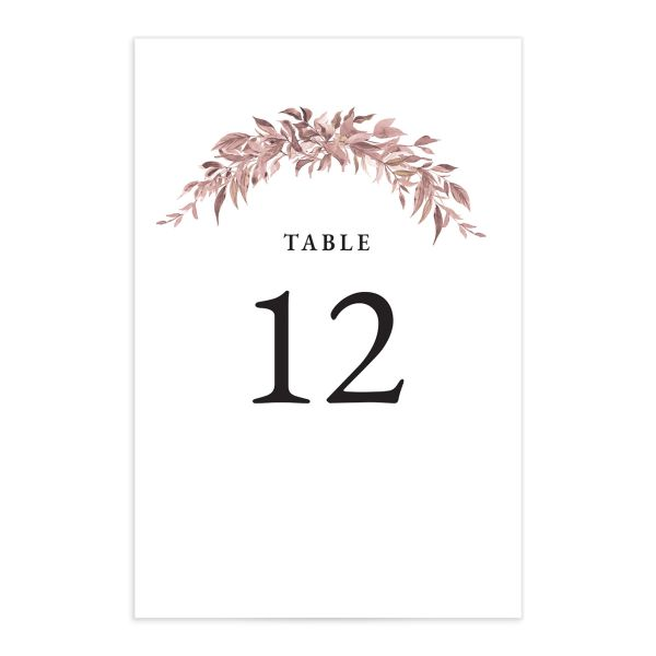 Classic Modern Table Number Card front in pink