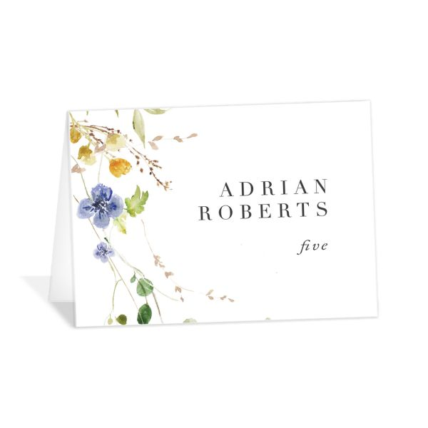 Delicate Wildflower folded Place Card