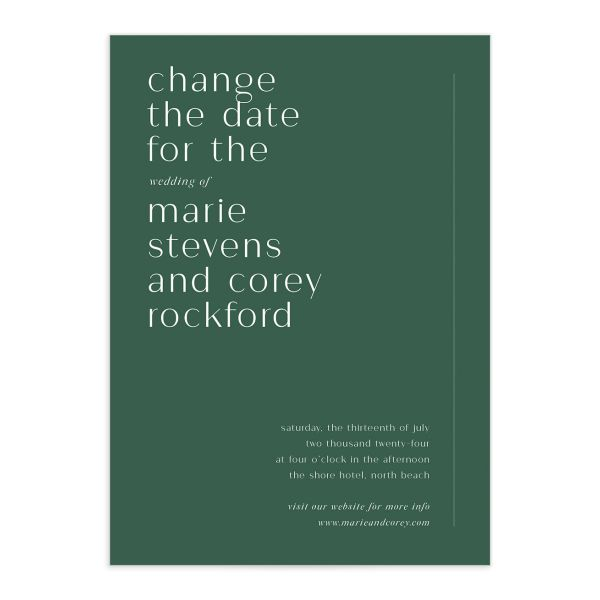 Aligned Change the Date Cards