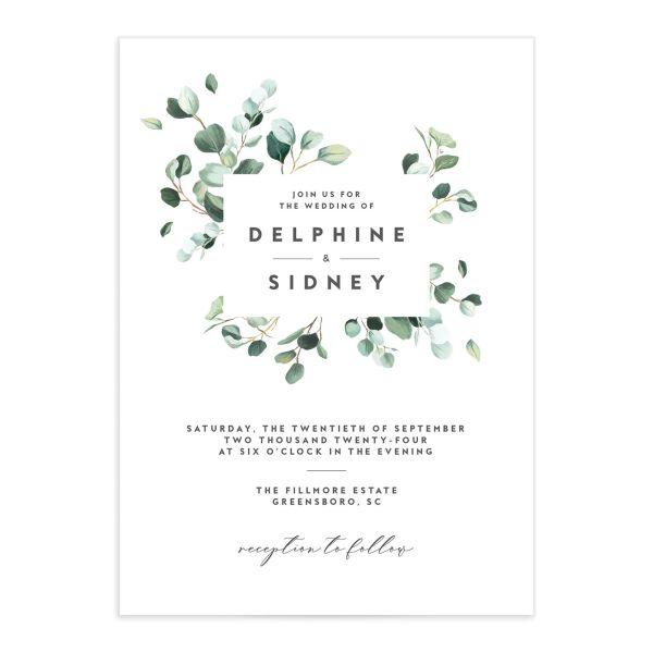 Modern Eucalyptus Wedding Invitations