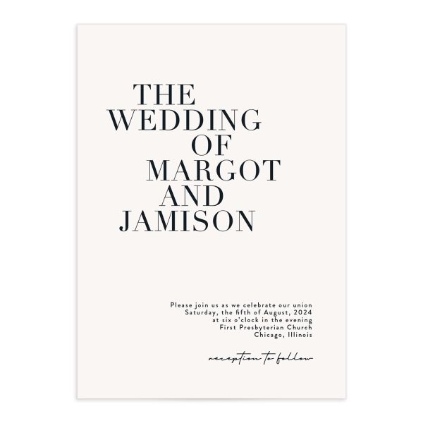 Modern Type Wedding Invitations