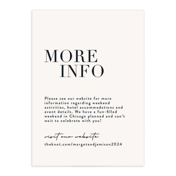 Modern Type Wedding Enclosure Cards
