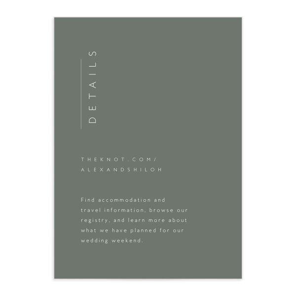 Stacked Initials Wedding Enclosure Cards