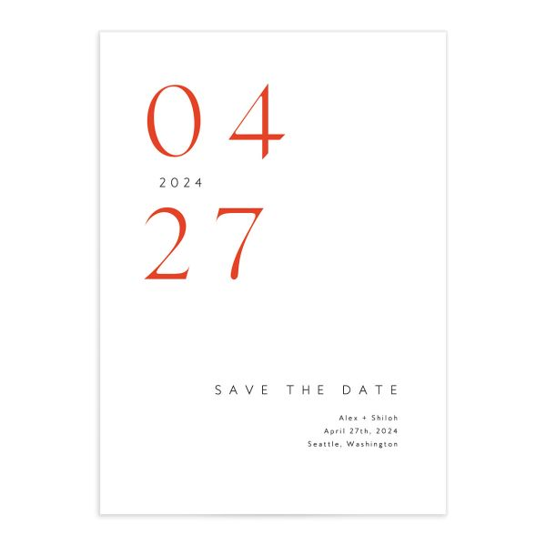 Stacked Initials Save The Date Cards