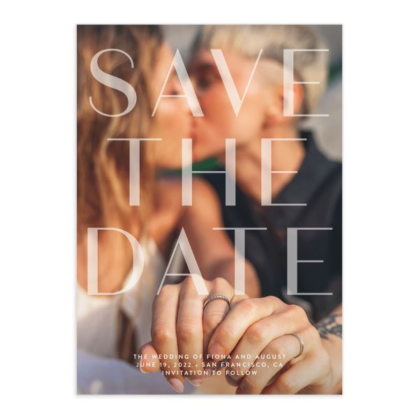 Awash Save the Date Card front