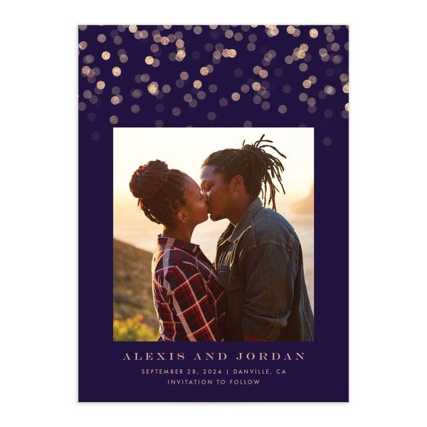 Elegant Glow Save The Date Cards