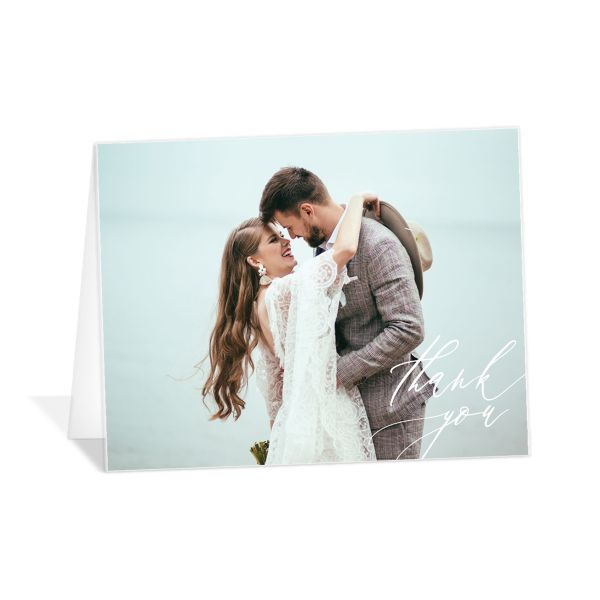 Dusted Calligraphy Thank You Card front