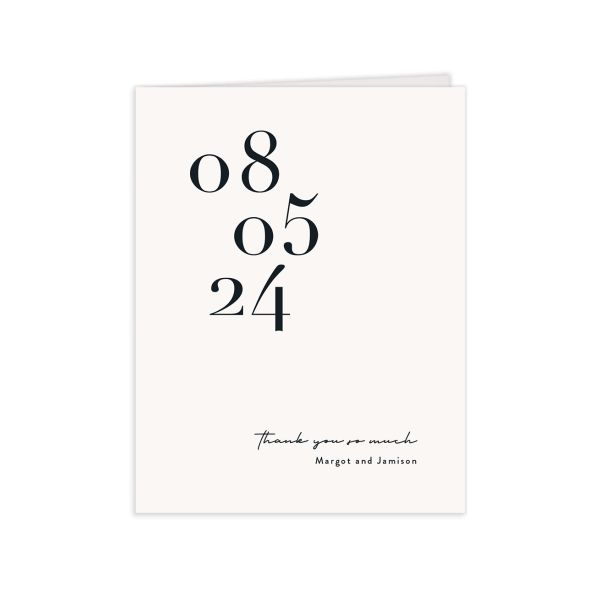 Modern Type Thank You Cards