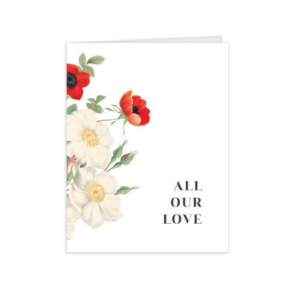 Scarlet Anemone Thank You Cards