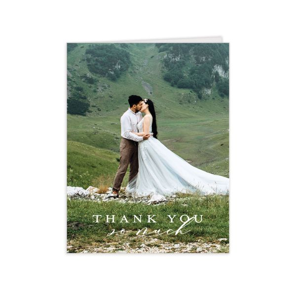 Natural Monogram Thank You Cards