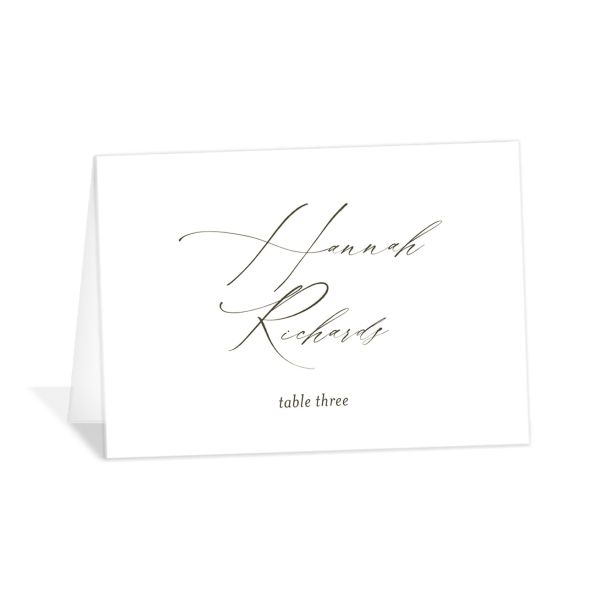 Formal Greenery Place Cards