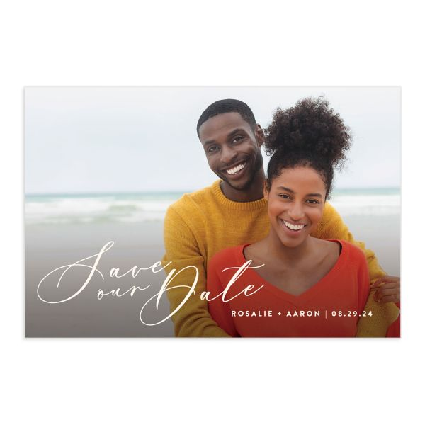 Palm and Protea Save the Date Postcard front