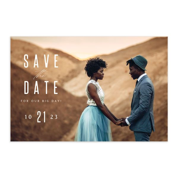 Classic Cascade Save The Date Postcards