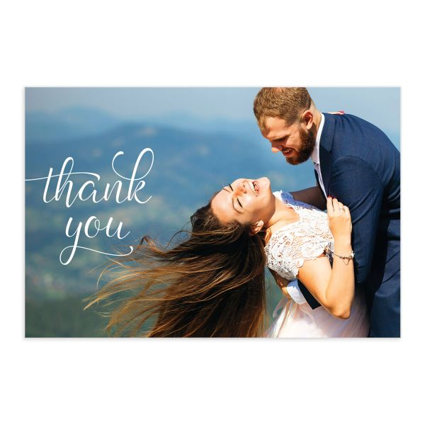 Romantic Succulent Thank You Postcard front